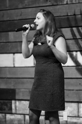 Woman performing stand up