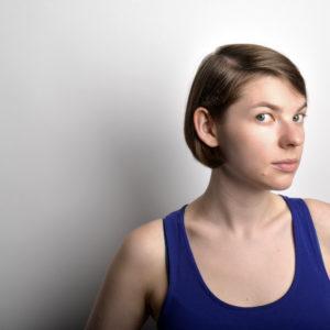head shot of woman writer