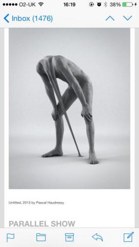Surreal artwork of man