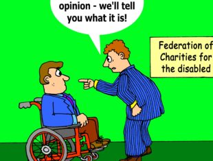 charity cartoon