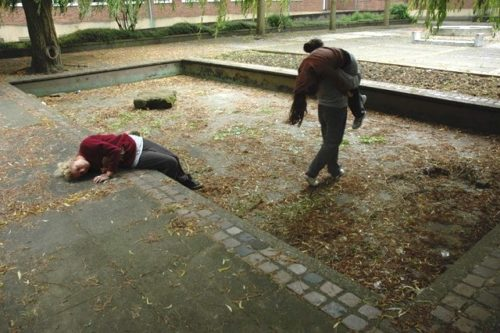 photo of dancers in an outside space