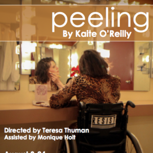 Theatre poster featuring wheelchair user