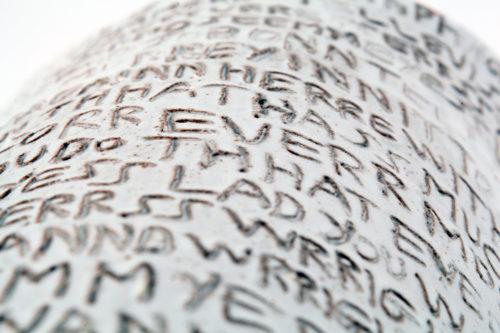 Text on ceramics