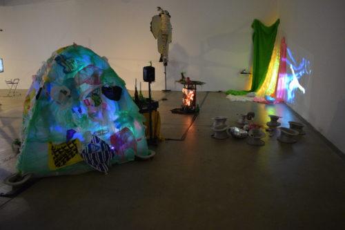 Art installation featuring a tent
