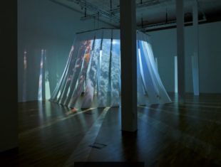 Audio visual installation with projected images