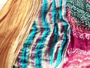 Colourful fabric