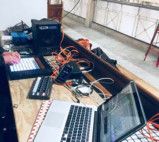 music tech equipment used in a workshop