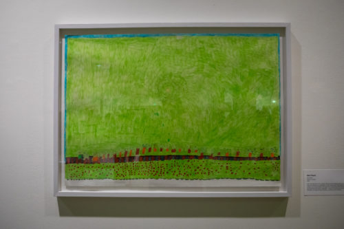 Felt-tip drawing of a grassy scene