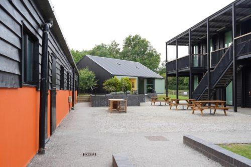 Courtyard of a an art centre