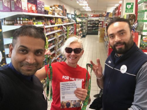 Liz with Tesco Metro staff