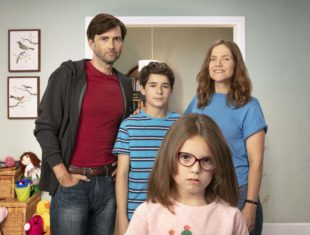A TV family of four, with a learning disabled daughter