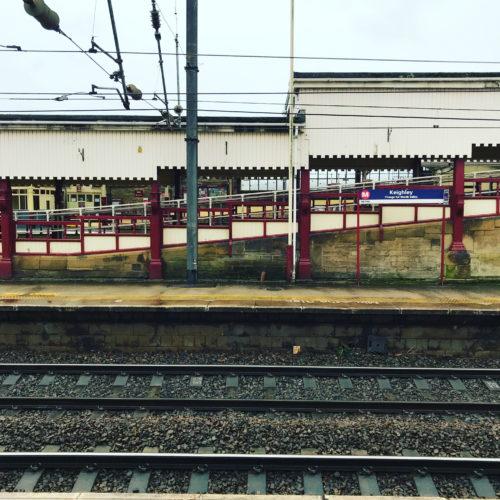 landscape photo of a train station