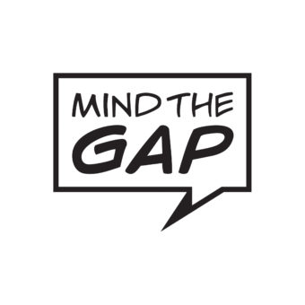 Company logo: a speech bubble containing the words Mind the Gap