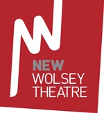 New Wolsey Theatre logo, White NWT on a red background.