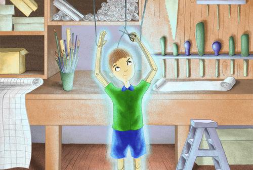 Illustration of Pinocchio