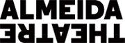 Almeida Theatre logo. ALMEIDA in bold black type above THEATRE inverteted and reversed.