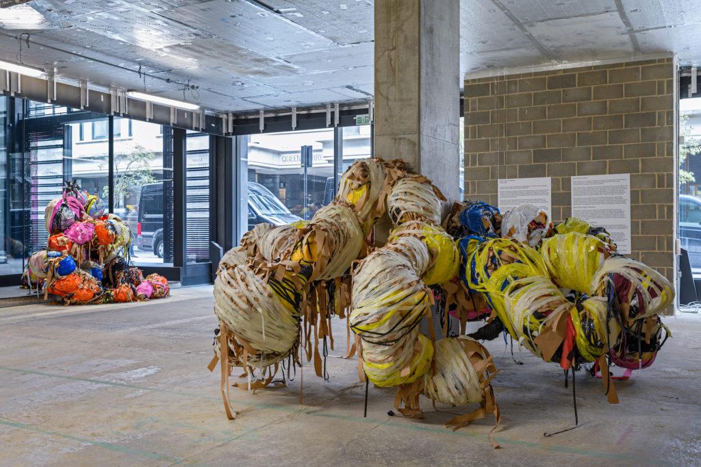 photo of sculpture installation