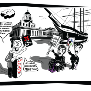 Protest cartoon