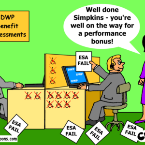 DWP bonus' cartoon
