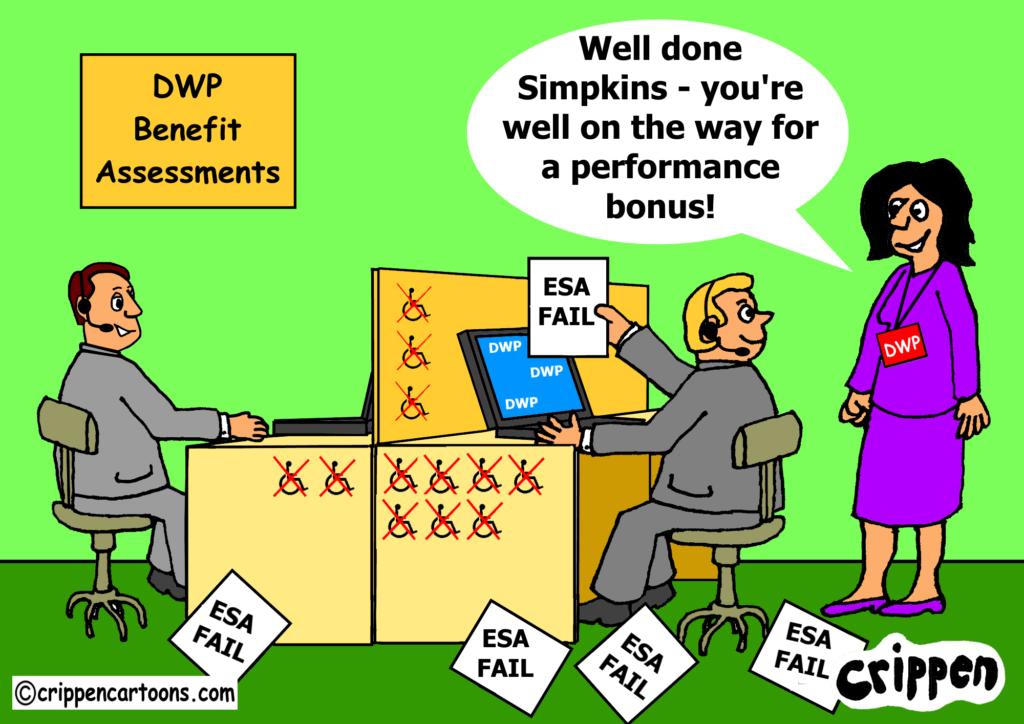 DWP bonus' cartoon