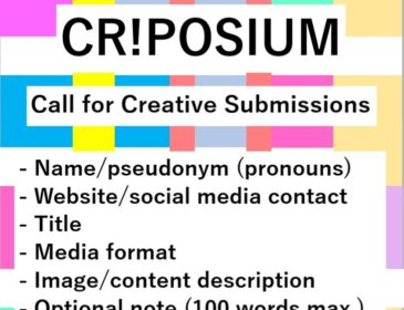 Image of 'Criposium' Call for Creative Submissions on a colourful background.