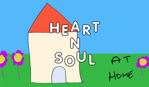 A house set in a small garden with flowers and the Heart n Soul logo on top of the image