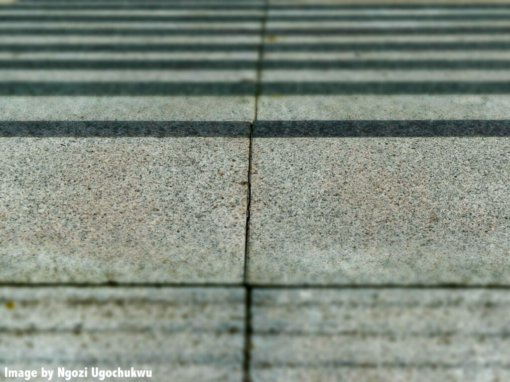 Photo of the texture of concrete steps