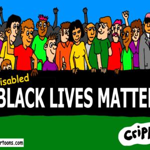a cartoon about disabled black lives matter