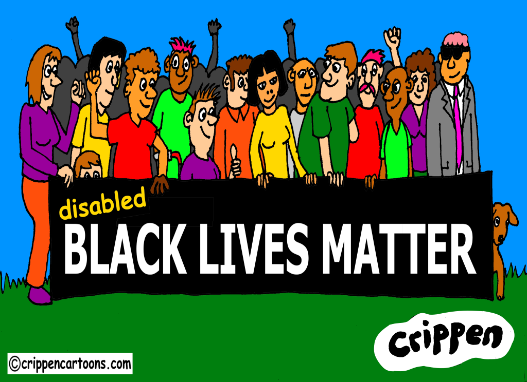 a cartoon about disabled black lives matter