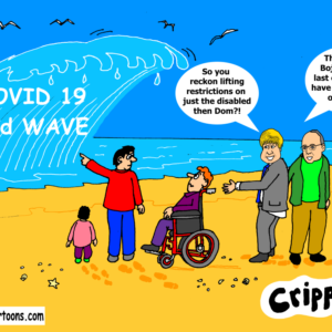 cartoon about Covid 19 second wave