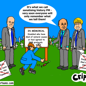 cartoon about DWP deaths