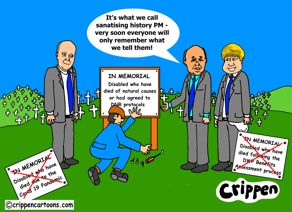 cartoon about DWP deaths