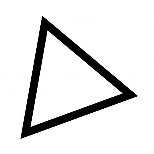 DELTA LOGO. Black outline of a triangle.