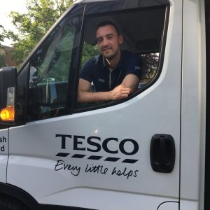 Tesco Delivery Man and Van