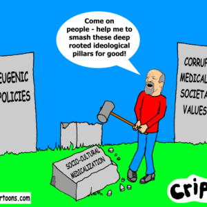 a cartoon about language of disability