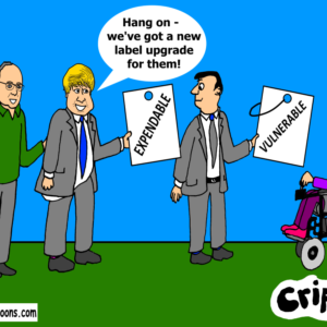 cartoon about disabled people becoming expendable