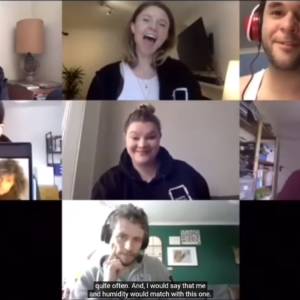 7 people in a Zoom video call