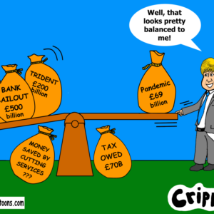 a cartoon about the billions spent by the government