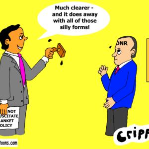 a cartoon about DNR