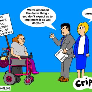 a cartoon about hospital access