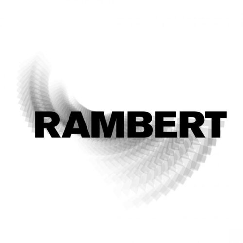 Rambert Logo (Black and White word with motion blur)
