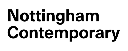 Nottingham Contemporary in black text.