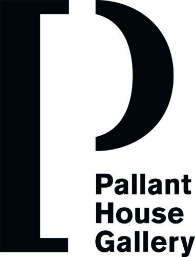 A large P next to Pallant House Gallery in black text on a white background.