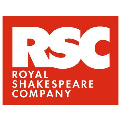 The RSC logo, a red rectangle with RSC in white large capital letters within and Royal Shakespeare Company in smaller white capitals below.