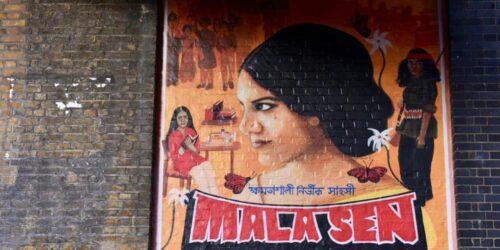 An artwork of Mala Sen on Brick Lane.