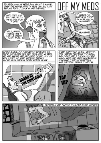 black and white page from a graphic novel