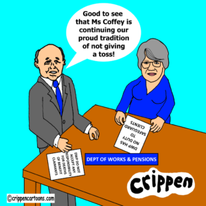 cartoon of theresa Coffey MP