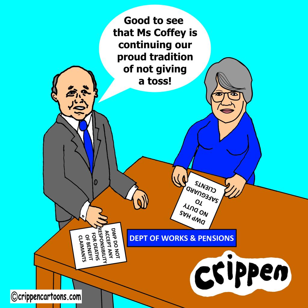 cartoon of theresa Coffey MP