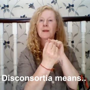 still from video of artist performing bsl poem
