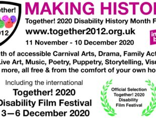 Text based advert for Together! 2020 Disability History Month